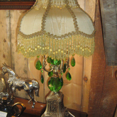 Lampe antique de style victorienne
