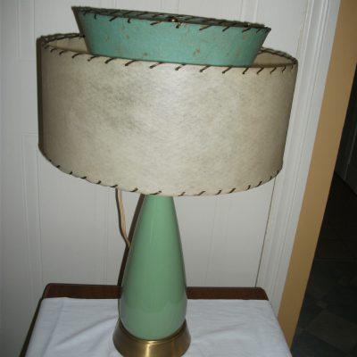Lampe vintage verte