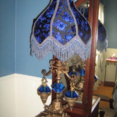 Lampe de style victorienne bleu